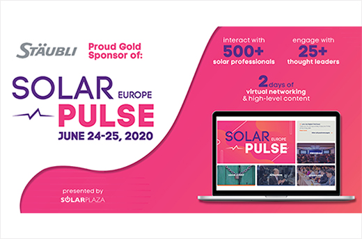 Stäubli shares PV expertise at Solar Pulse Europe of Solar Plaza
