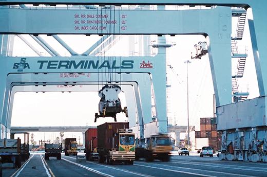 SSA Marine managing port logistics at Long Beach