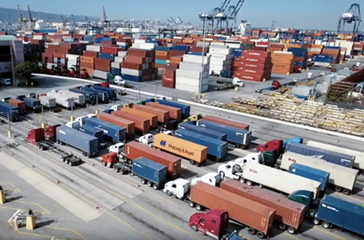 Logistic terminal at Port of Long Beach managed by SSA Marine