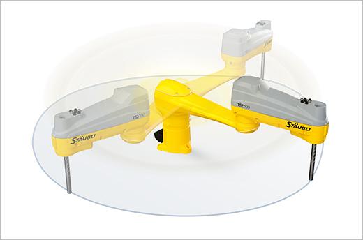 Arbeitsbereich bis zu 1000 mm (Stäubli TS2-100)