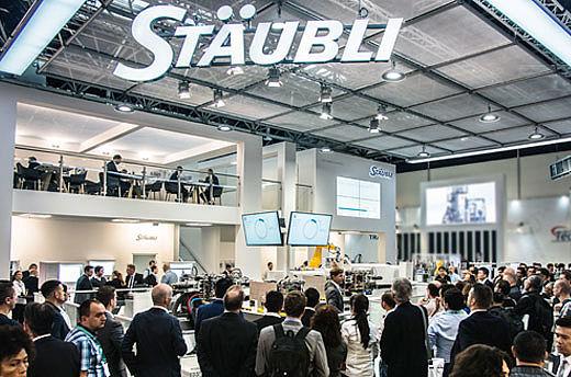 The Stäubli booth at K 2019