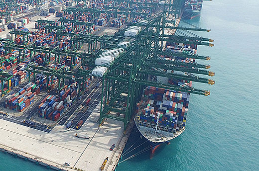 The world's largest container transshipment hub prepares for the future.