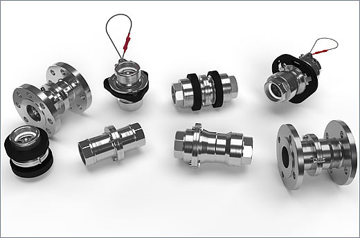 A complete range of high-performance safety break-away couplings